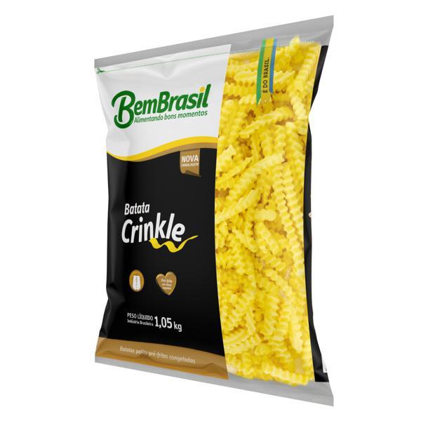 Batata Frita Crinkle Congelada BemBrasil 1,05kg