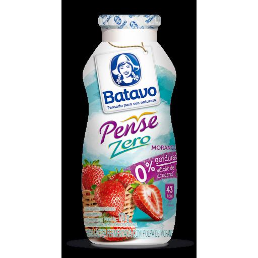 Bebida Lactea Fermentada Batavo Pense Zero 170G Morango