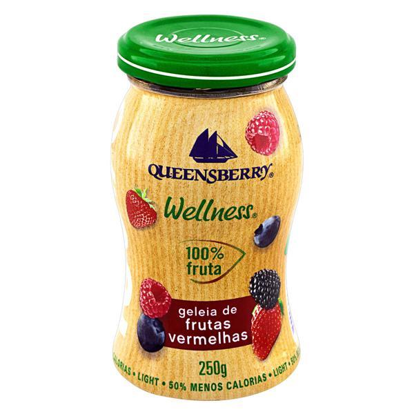 Geleia 100% Fruta Frutas Vermelhas Light Queensberry Wellness Vidro 250g