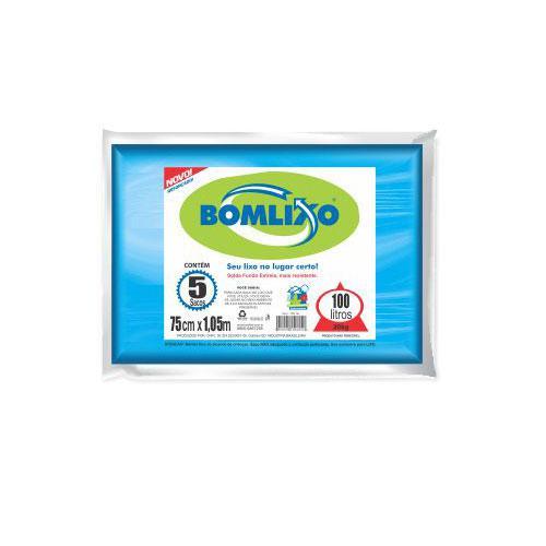 Saco para Lixo BOMLIXO Azul 100L