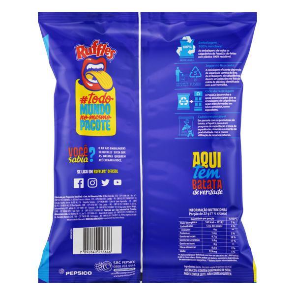 Batata Frita Ondulada Original Elma Chips Ruffles Pacote 167g Embalagem Econômica
