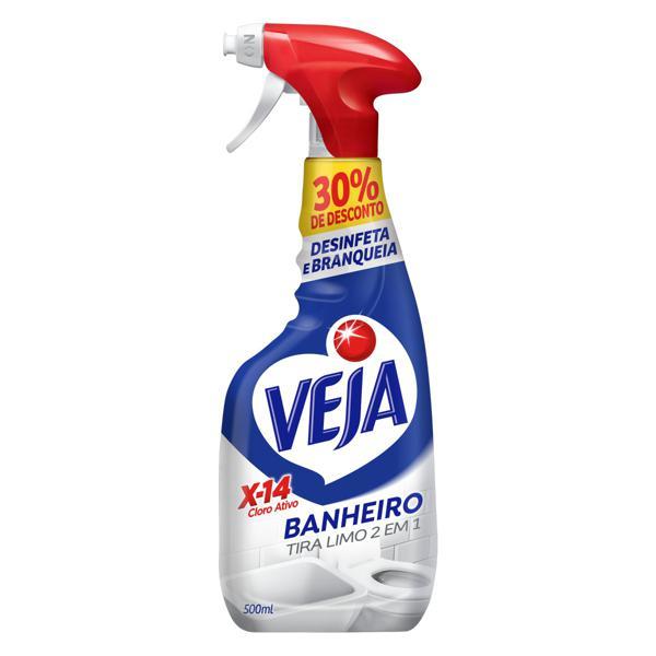 Desinfetante Banheiro Tira-Limo Veja X-14 Frasco 500ml Borrifador Grátis 30% de Desconto
