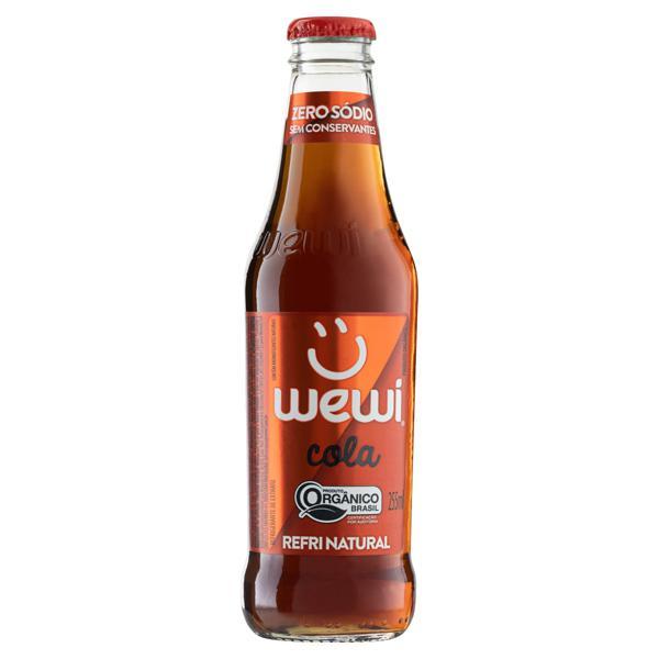 Refrigerante Orgânico Cola Zero Sódio Wewi Garrafa 255ml