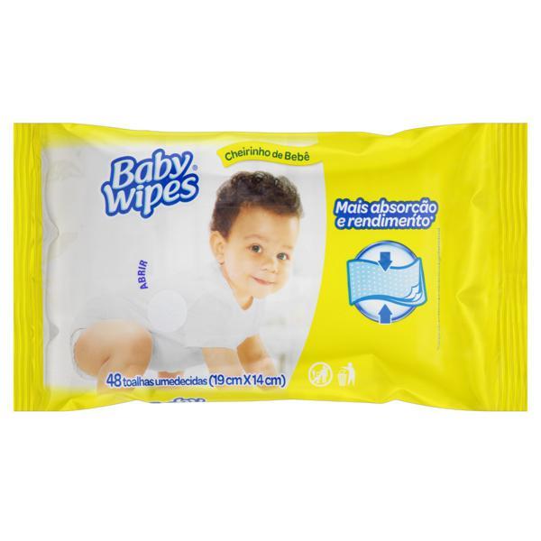 Toalha Umedecida Baby Wipes 19cm x 14cm Pacote 48 unidades