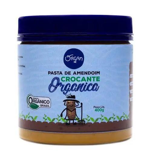 Pasta de amendoim crocante orgânica Organ (400g)