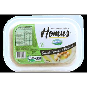 Homus Pasta De Grão de Bico Orgânico com Ervas de Province - Ecobras