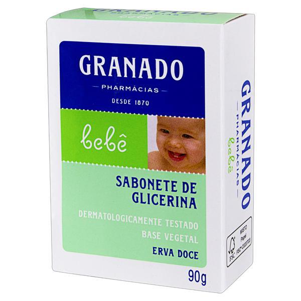 Sabonete em Barra de Glicerina Erva-Doce Granado Bebê Caixa 90g