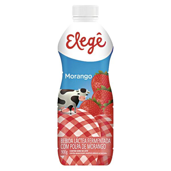 Bebida Láctea Fermentada Sabor de Morango ELEGÊ 900g