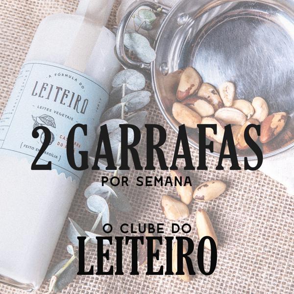 Clube do Leiteiro 2 Garrafas por semana - Total 24 Garrafas