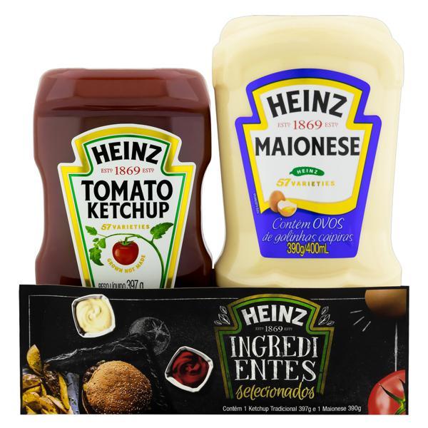 Kit Ketchup Tradicional 397g + Maionese 390g Heinz