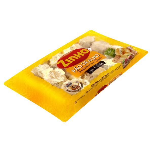 Pão de Alho Bolinha Recheio Tradicional com Queijo Zinho Pacote 300g