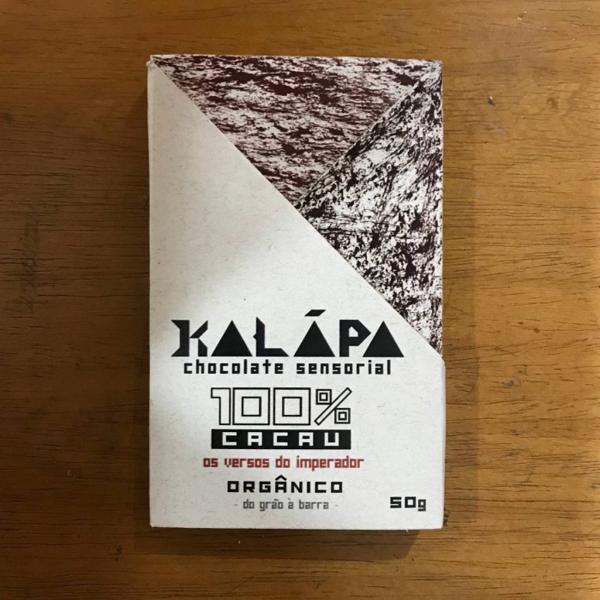 Barra de chocolate 100% cacau 50g - Kalapa