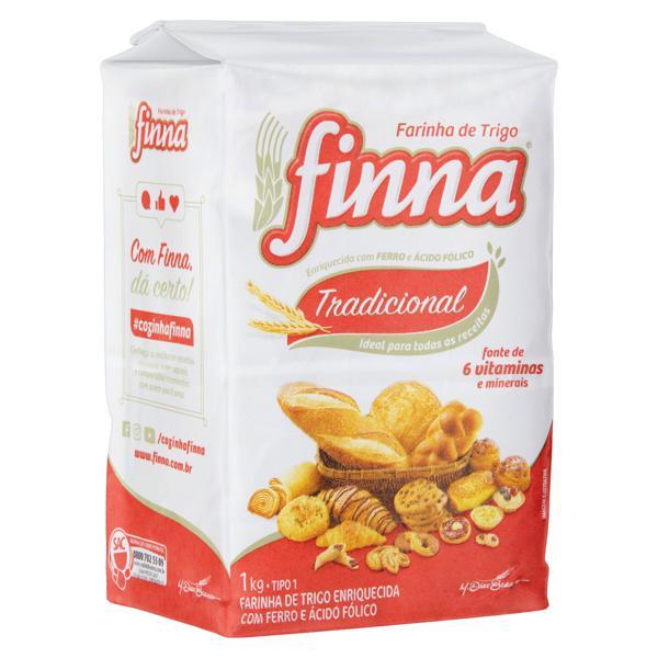 Farinha de Trigo Tipo 1 Finna Pacote 1kg