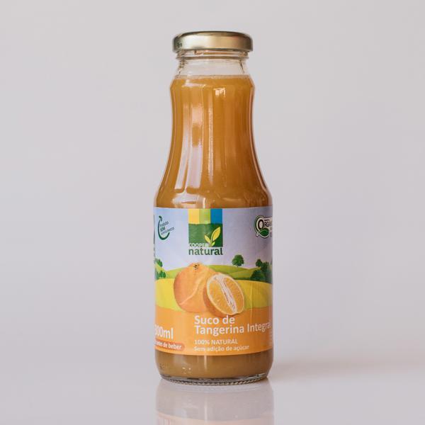 Suco de Tangerina Integral Orgânico Extraído a Frio (300ml)