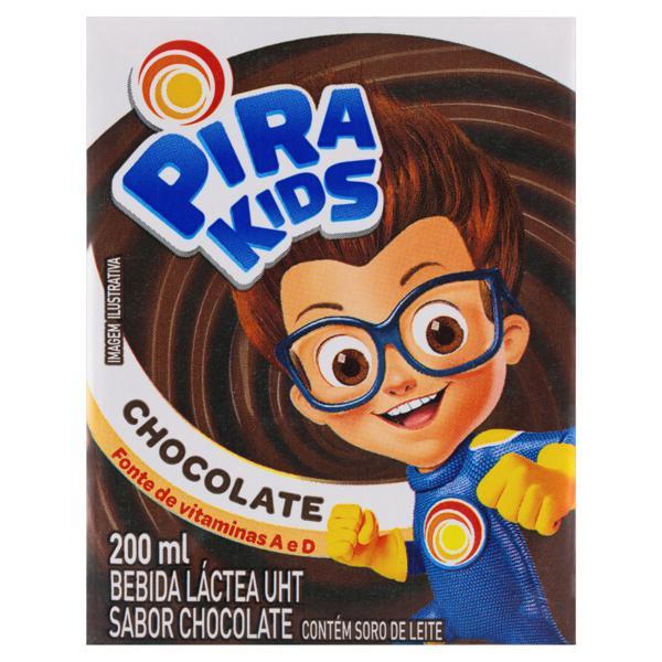 Bebida Láctea UHT Chocolate Piracanjuba Pirakids Caixa 200ml