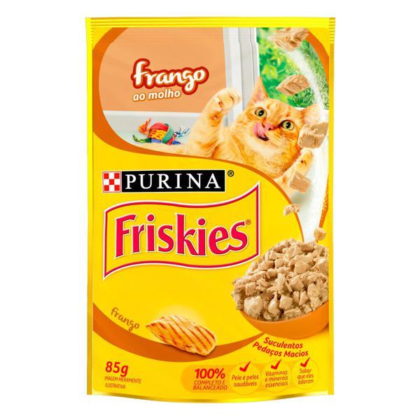 Alimento para Gatos Frango ao Molho Purina Friskies Sachê 85g