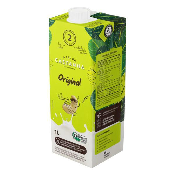 Bebida à Base de Castanha-de-Caju Orgânica Original A Tal da Castanha Caixa 1l