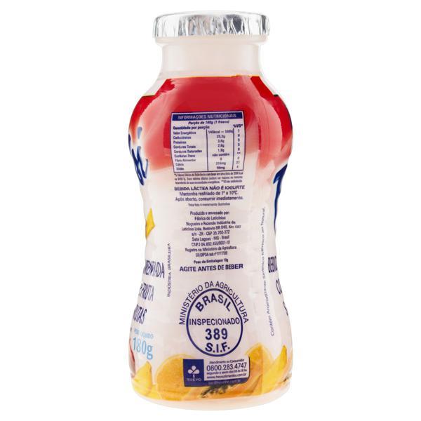 Bebida Láctea Fermentada Salada de Frutas Pulsi Frasco 180g