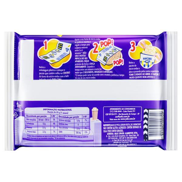 Pipoca para Micro-Ondas Bacon Yoki Pacote 100g