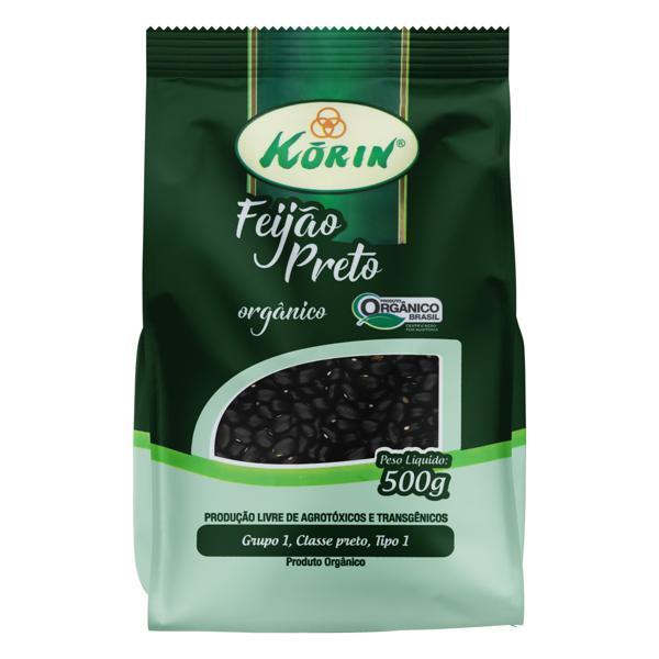 Feijão Preto Tipo 1 Orgânico Korin Pacote 500g