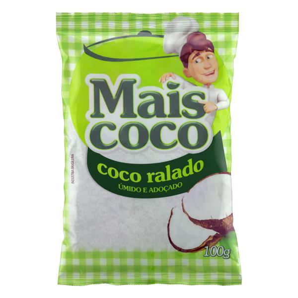 Coco Ralado Úmido Adoçado Mais Coco Pacote 100g