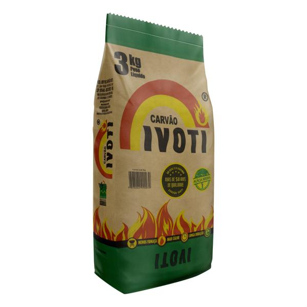 Carvão de Acácia Negra Ivoti Pacote 3kg