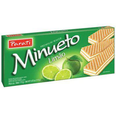 Biscoito PARATI Wafer Minueto Limão 115g