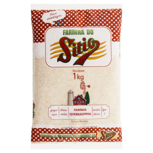 Farinha de Mandioca Tipo 1 Quebradinha Sítio Pacote 1kg