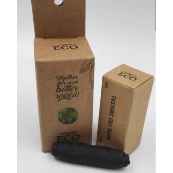 Refil fio dental Natural de bambu Original Eco - Manju