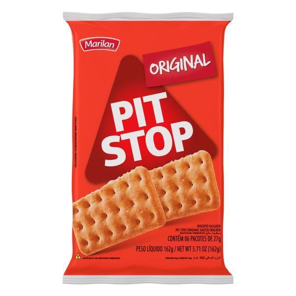 Pack Biscoito Original Marilan Pit Stop Pacote 162g 6 Unidades