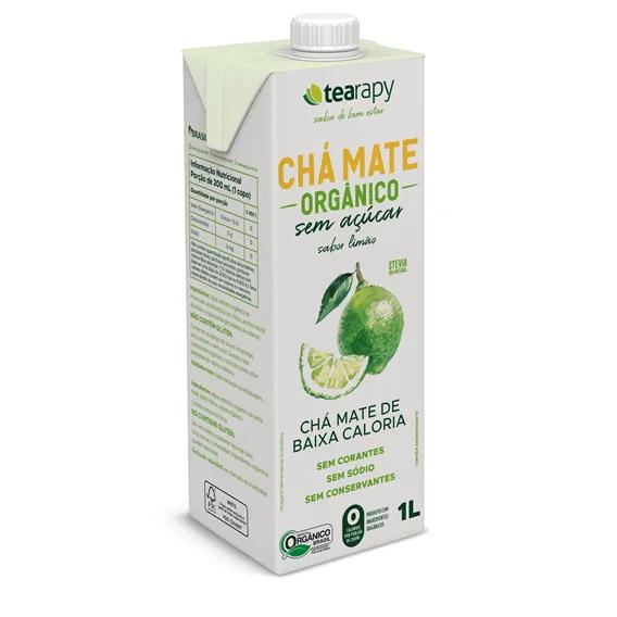 Chá Mate Limão Sem Açúcar Orgânico 1L - Tearapy