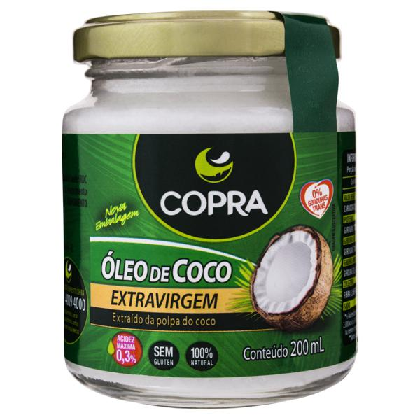 Óleo de Coco Extra Virgem Copra Vidro 200ml