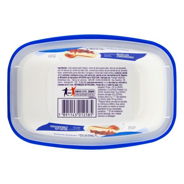 Queijo Cream Cheese Tradicional Polenghi Pote 150g