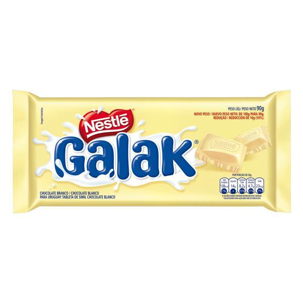 Chocolate Branco Nestlé Galak Pacote 90g