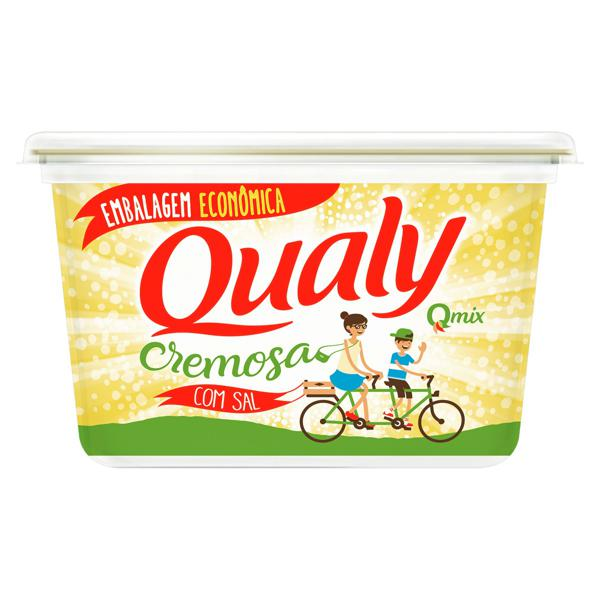 Margarina Cremosa com Sal Qualy Qmix Pote 1kg Embalagem Econômica
