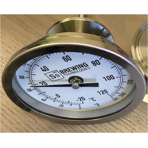 """Termometro Analógico Tri-clamp 1,5"""" - Ss Brewtech"""