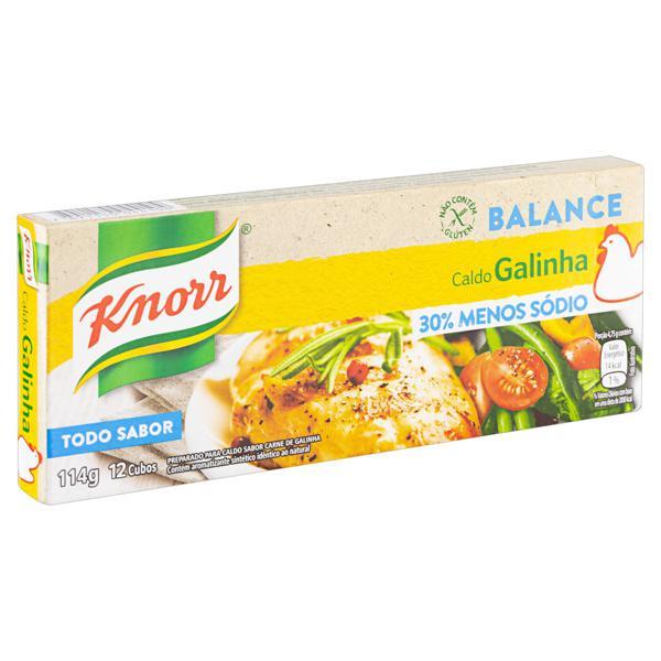 Caldo em Tablete Galinha Knorr Balance Caixa 114g 12 Unidades