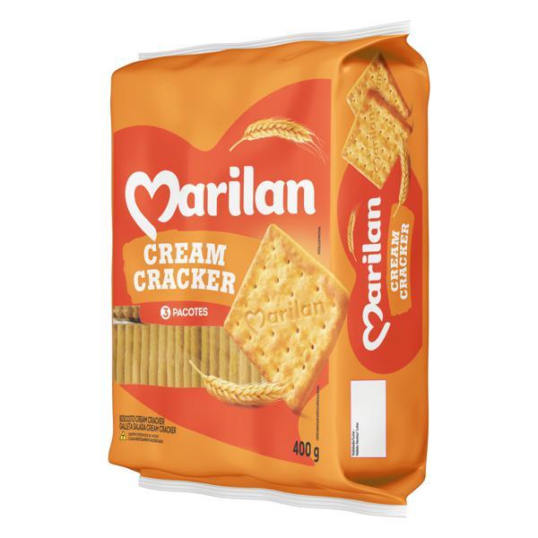 Biscoito Cream Cracker Marilan Pacote 400g