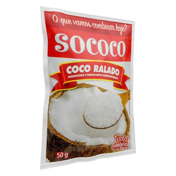 Coco Ralado Desidratado Sococo Pacote 50g