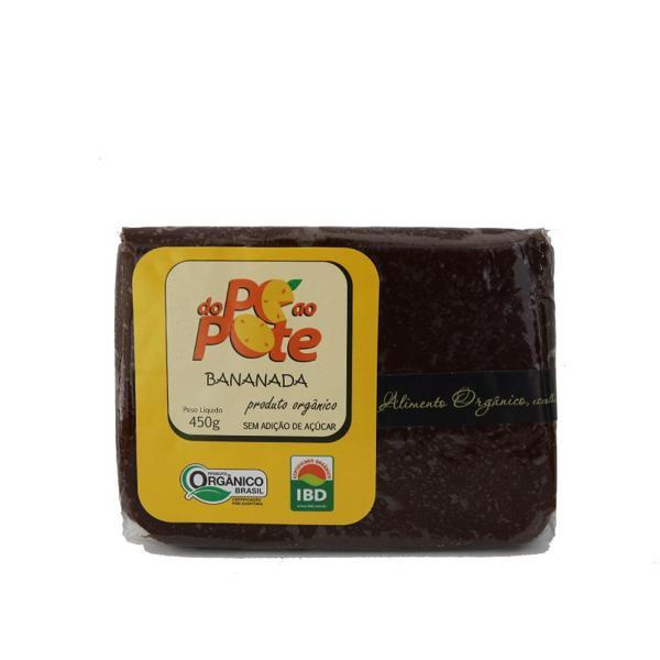Bananada sem açúcar orgânica 500g-Do Pé ao Pote-OFERTA VALIDADE:27/10/21