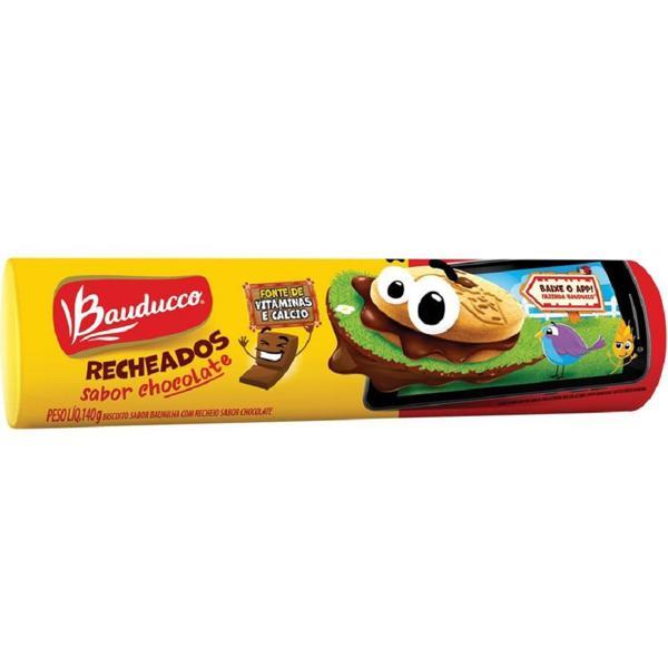 Biscoito Baunilha Recheio Chocolate Bauducco Pacote 140g