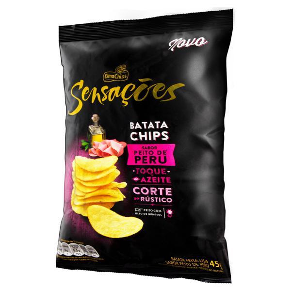 Batata Frita Lisa Peito de Peru Elma Chips Pacote 45g