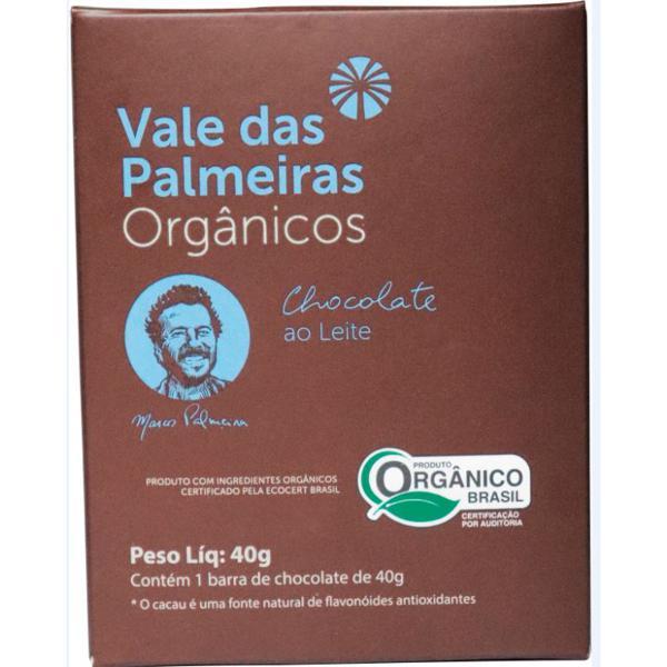 Chocolate 40% ao Leite Orgânico 40g