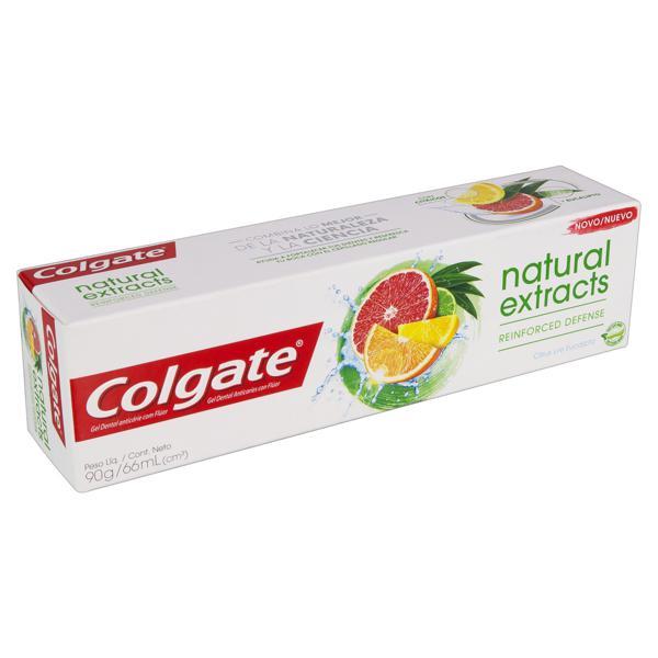 Gel Dental Reinforced Defense Citrus e Eucalipto Colgate Natural Extracts Caixa 90g