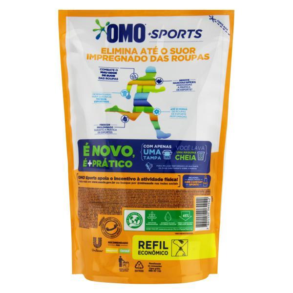 Lava-Roupas Líquido Omo Sports Sachê 900ml Refil Econômico
