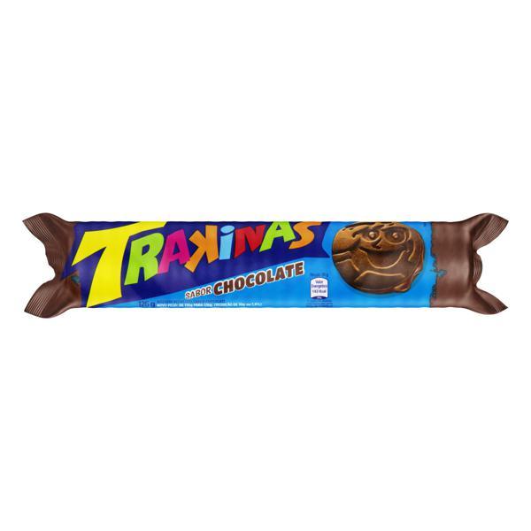 Biscoito Recheio Chocolate Trakinas Pacote 126g