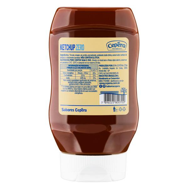Ketchup Sabores Cepêra Zero Squeeze 370g