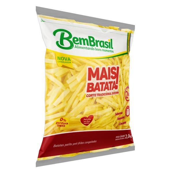 Batata Pré-Frita Palito Congelada BemBrasil Mais Batata! Pacote 2kg