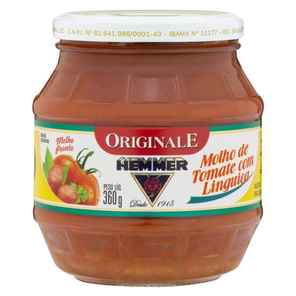 Molho de Tomate com Linguiça Hemmer Originale Vidro 360g