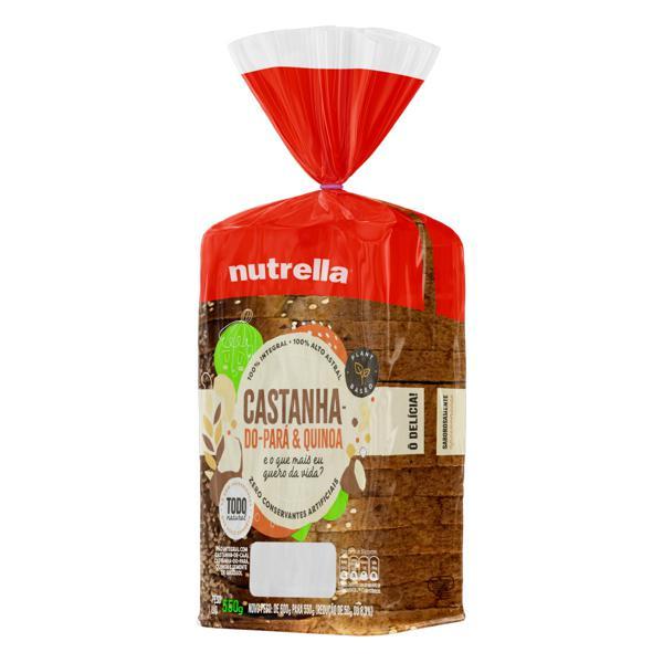 Pão Integral Castanha-do-Pará & Quinoa Nutrella Pacote 550g